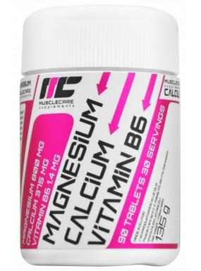 MUSCLE CARE Magnesium+Calcium+B6  90tab