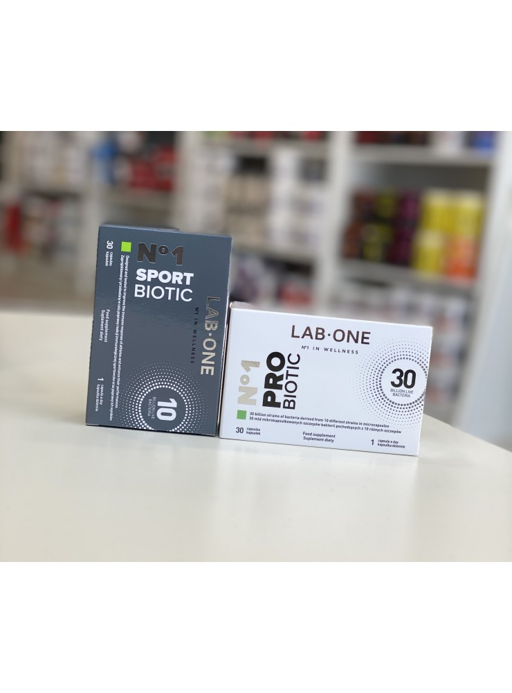 PROMOCJA!!! LAB ONE ProBiotic No.1 + SportBiotic No.1