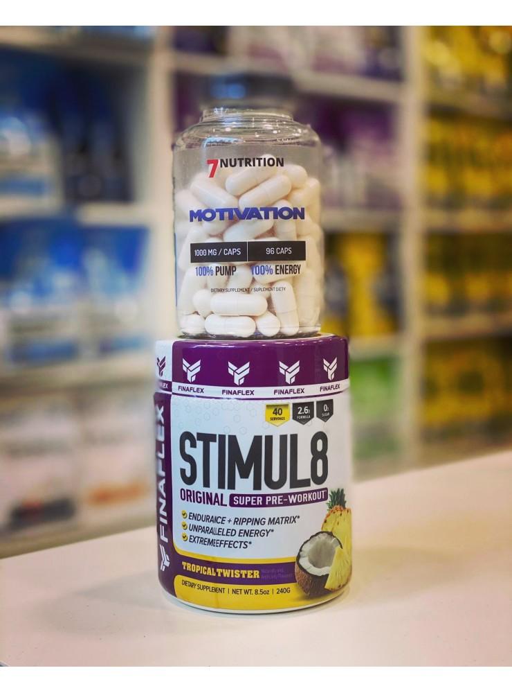 PROMOCJA!!! FINAFLEX Stimul8 + 7NUTRITION Motivation - Idealny zestaw przed treningiem!