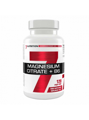 7NUTRITION Magnesium Citrate + B6 120vcap